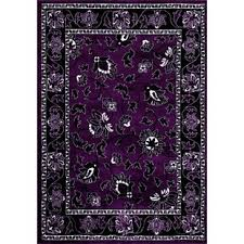 Purple Area Rugs Floral Plant Purple Area Rugs You Ll Wayfair
