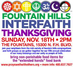 5th annual interfaith thanksgiving service