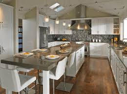 white kitchen islands with seating kitchen island with seating and mosaic backsplash