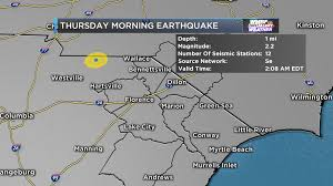 Earthquake Incident Map Small Earthquake Recorded In South Carolina Thursday Wmbfnews