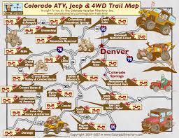 colorado atv jeeping 4wd trail maps co vacation directory