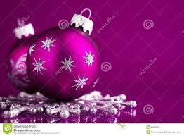 purple and silver ornaments on purple