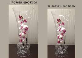 vasi in vetro economici vaso vetro con piede diametro 26 alto 60 cm 1pz complementi e