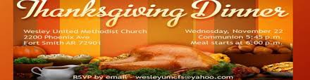 free community thanksgiving dinner wesley united methodist church