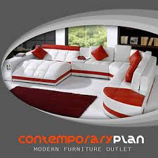 Ebay Sectional Sofa Miami Contemporary Leather Sectional Sofa Set Curved Modern