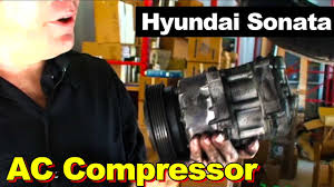 2006 hyundai sonata ac compressor youtube