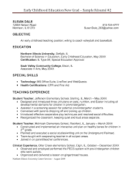 Special Skills For Job Resume by Good Teacher Resume Perfect 2017 Professional Education Resume