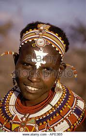 beautiful maasai masai wearing necklaces stock photos
