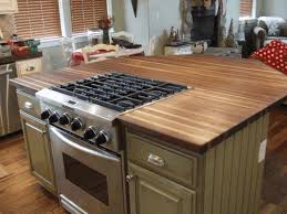 kitchen island with stove olive green wooden kitchen island with steel oven stove polished