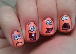 spongebob nail art tutorial request youtube easy beginner nail