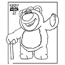 hugging bear toy story 3 coloring pages toy story