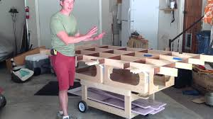 portable track saw table ultimate track saw workbench youtube