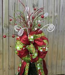 tree toppers for christmas trees christmas tree topper ribbon topper bow topper tree toppers