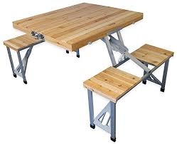 Camping Picnic Table Andes Wooden Folding Portable Camping Picnic Outdoor Table U0026 Stool
