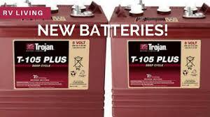 rv living installing 6v trojan t 105 plus batteries in our rv