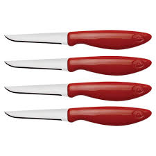set of kitchen knives joie stainless steel flexible paring knife set of 4