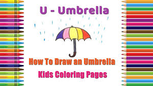 how to draw an umbrella coloring pages alphabets coloring pages