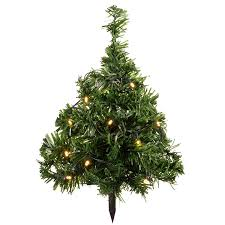 werchristmas solar powered mini christmas trees with ten warm