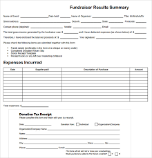 sample fundraiser receipt template 9 free documents in pdf word