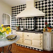 Black And White Tile Kitchen Backsplash by Beautiful Kitchen Backsplashes Traditional Home