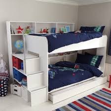 bedroom wooden loft bunk bed kids desk storage decofurnish cool