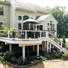 Landscape Deck Patio Designer Landscape Deck Patio Designer An Elevated Deck With Curved Design