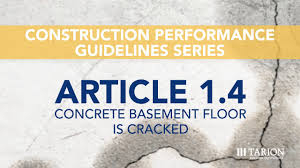 article 1 4 concrete basement floor is cracked youtube