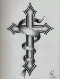 cross tattoos for men gothic cross tattoo drawing and wings