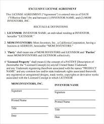 licensing agreement template template idea