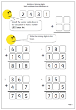 missing number worksheet new 637 missing number addition sums to 10