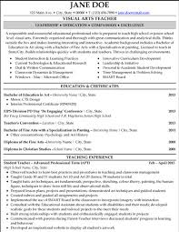 Example Resume For Teachers by Click Here To Download This Visual Arts Teacher Resume Template