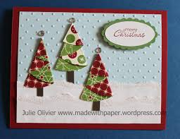 be of good cheer u201d designer series paper christmas trees made