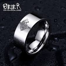 house wedding band stainless steel ring of thrones wolf house stark of