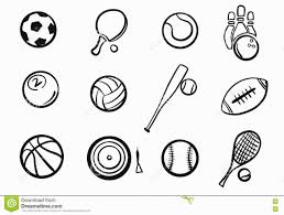 extraordinary sports outline pictures font example vector icon law