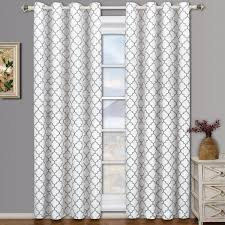 meridian white grommet room darkening window curtain panels pair