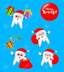 imagenes de santa claus feliz navidad colección de diente de dibujos animados lindo santa claus feliz