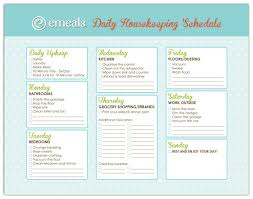 beautiful home cleaning schedule on house cleaning printable