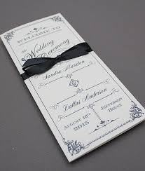 how to print wedding programs diy ornate vintage wedding program tri fold template add your