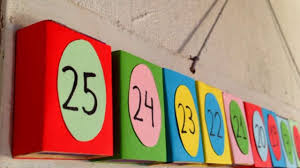 how to make a countdown advent calender for the kids diy crafts