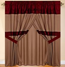 Burgundy Curtains Living Room Brown And Burgundy Curtains Best Curtains Design 2016