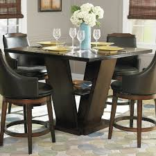 Dining Room Table With Swivel Chairs by Dining Room Elegant Tall Dining Table For Sensational Dining Room
