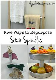How To Sand Banister Spindles Tutorials For Repurposed Stair Spindle Projects Thediybungalow Com