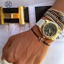 anchor braid bracelet images Zhuny luxury fleur de lis macrame braided bracelet cz beads anchor jpg