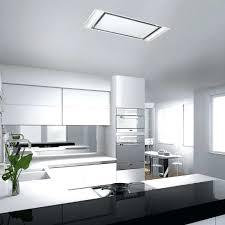 hotte cuisine suspendue hotte cuisine plafond hotte de cuisine de plafond avec acclairage