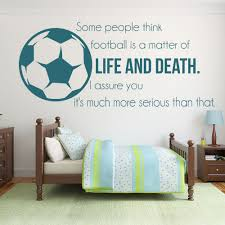 online get cheap wall sticker quote sport aliexpress football soccer vinyl wall stickers life and death inspirational quotes sticker sports art