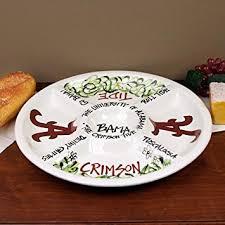 ceramic platter 14 5 of alabama ceramic veggie platter