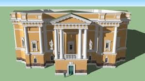 neoclassical style building in neoclassical style 3d warehouse