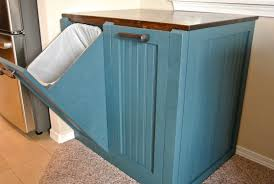 Kitchen Island With Garbage Bin Wooden Trash Cans For Kitchen Trash Can Trash Bin Wood Tilt Out
