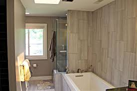 contemporary master bathroom with master bathroom skylight in
