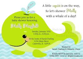 whale baby shower whale of a time baby shower invitation green